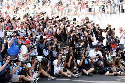 Les photographes au travail