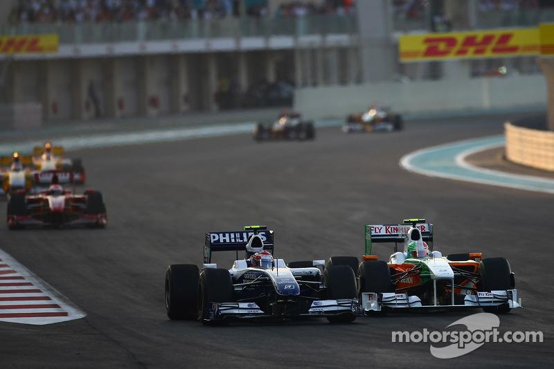 Kazuki Nakajima, Williams F1 Team y Vitantonio Liuzzi, Force India F1 Team