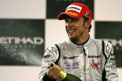 Podio: tercer lugar Jenson Button, Brawn GP