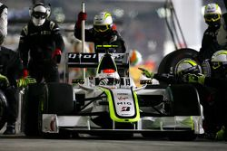 Rubens Barrichello, Brawn GP during pitstop