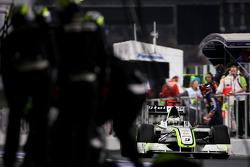 Jenson Button, Brawn GP during pitstop