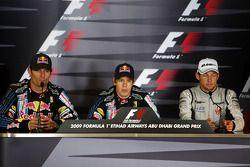 Conférence de presse d'après course : le vainqueur Sebastian Vettel, Red Bull Racing, avec Mark Webb