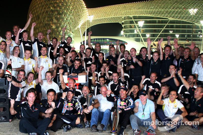 Celebración del equipo Red Bull