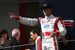 Le Champion Andy Soucek sur le podium