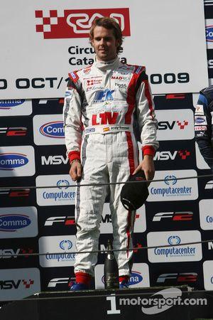 Andy Soucek on the race podium