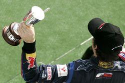 Robert Wickens on the race podium