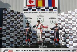 Robert Wickens, Andy Soucek and Mikhail Aleshin on the championship podium