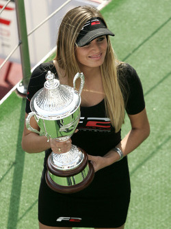 F2 girl with the Championship Trophy