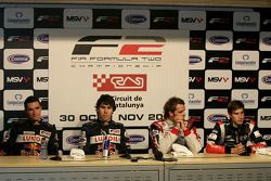 Mikhail Aleshin, Robert Wickens, Andy Soucek and Nicola De Marco in the press conference