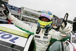 Augusto Farfus, BMW Team Germany, BMW 320si celebrating his victory