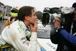 Augusto Farfus, BMW Team Germany, BMW 320si celebrating