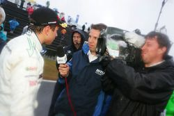 Augusto Farfus, BMW Team Germany, BMW 320si being interviewed after the race