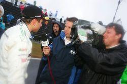 Augusto Farfus, BMW Team Germany, BMW 320si en interview d'après course