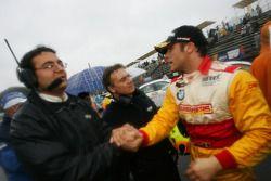 Stefano D'Aste, Wiechers-Sport, BMW 320si celebrating