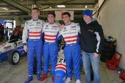 Josef Newgarden, Connor de Phillippi, Brett Smrz et Connor Daly