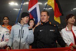 Drivers presentation: Sebastian Vettel and Michael Schumacher