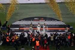 Podium: Nations Cup winners Michael Schumacher and Sebastian Vettel for Team Germany, second place A