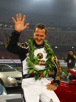 Segundo lugar Michael Schumacher de la Carrera de Campeones