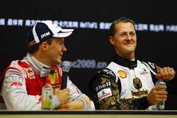 Conferencia de prensa: Ganador de la Carrera de Campeones Mattias Ekström con el segundo lugar Mich