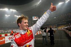 Race of Champions vencedor Mattias Ekström comemora