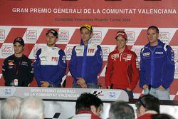 Press conference: Andrea Dovizioso, Repsol Honda Team, Jorge Lorenzo, Fiat Yamaha Team, Valentino Ro