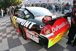 Jeff Gordon's pole winning car sits in Victory lane