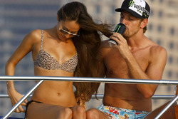 Jenson Button and Jessica Michibata are spending time together on a cruise around the marina in Duba