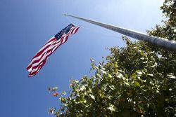Le drapeau américain au Texas Motor Speedway