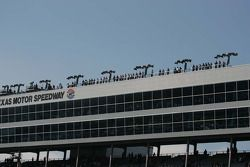 Spotters high on the roof of Texas Motor Speedway