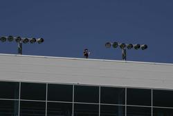 Animateur de radio sur le toit du Texas Motor Speedway