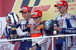 Podium: 1. Dani Pedrosa, Repsol Honda Team; 2. Valentino Rossi, Fiat Yamaha Team; 3. Jorge Lorenzo,