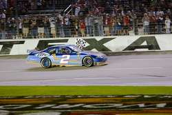 Race winner Kurt Busch, Penske Racing Dodge celebrates