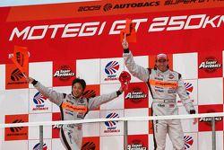 GT500 podium: winner #8 Arta NSX: Ralph Firman, Takuya Izawa