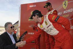 Ferrari Challenge: Philipp Baron receives his prize from Piero Ferrari