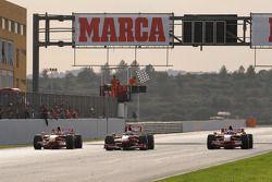F1 exhibition: Luca Badoer, Felipe Massa et Giancarlo Fisichella