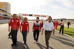 Stefano Domenicali, Felipe Massa, Fernando Alonso and Luca di Montezemolo