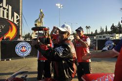 Le champion NHRA Pro Stock Motorcycle 2009 Hector Arana