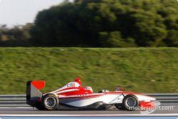 Sam Hancock test drives the new GP3 Series car