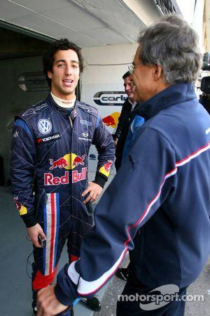 Daniel Ricciardo, Carlin et Dr. Mario Theissen, BMW Sauber F1 Team,