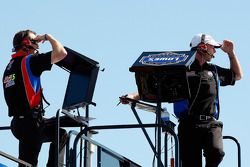 Alan Gustafson, crew chief for Mark Martin, Hendrick Motorsports Chevrolet, and Chad Knaus, crew chief for Jimmie Johnson, Hendrick Motorsports Chevrolet
