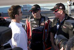 J.D. Gibbs, Kyle Busch and Z-Line Designs owner Jim Sexton