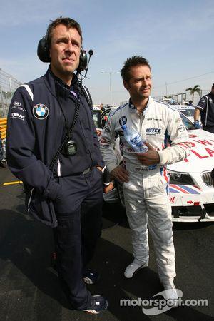 Andy Priaulx, BMW Team UK, BMW 320si and Bart Mampaey, Team Manager, BMW Team UK / RBM-Team