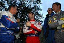 Stéphane Sarrazin et Jean Renucci, Peugeot 207 super 2000 et Sébastien Loeb et Séverine Loeb, Citroen C4 WRC