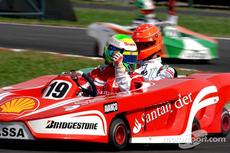 2. race: Felipe Massa wins front, Michael Schumacher