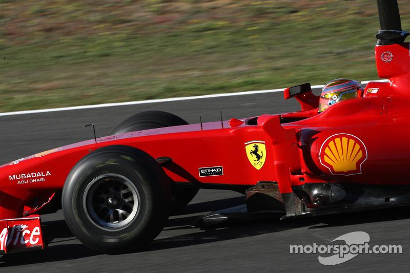 El debut a los mandos del Ferrari