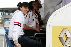 Robert Kubica, Renault F1 Team gantry