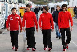 Marco Zipoli, Tests for Scuderia Ferrari, Daniel Zampieri, Tests for Scuderia Ferrari, Pablo Sanchez Lopez, Tests for Scuderia Ferrari
