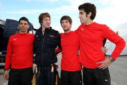 Marco Zipoli, Tests for Scuderia Ferrari, Mirko Bortolotti, Tests for Scuderia Toro Rosso, Daniel Za