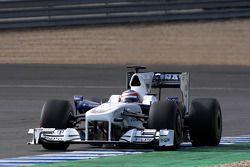 Bertrand Baguette Tests for the BMW Sauber F1 Team