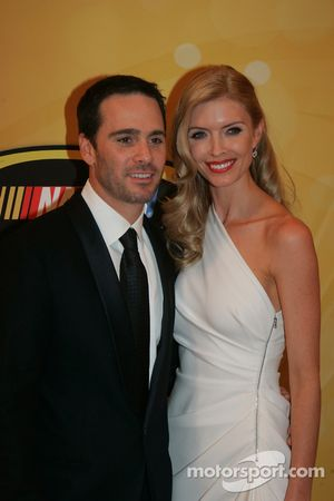 Four time NASCAR Sprint Cup Series Champion Jimmie Johnson and his lovely wife Chandra